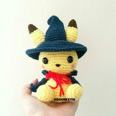 Say hello to Mr. Pikachu wizard He is dressed as a wizard in preparation for halloween! Available for purchase in my etsy shop! Link is in my profile please give him some love! What other things should I make for halloween? (Dont say pumpkaboo!! ) #amigurumi #amigurumidoll #crochet #crochetaddict #kawaii #plushies #pokemon #nintendo #gamer #gaming #buyme #giftideas #onsale #trendy #trending #pikachu #wizard #lol #etsy #etsyshop #etsyseller by crochettie