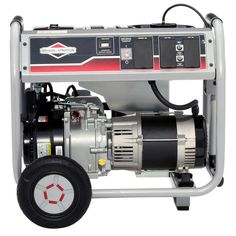 Briggs & Stratton Gasoline Powered Portable Generator with Hour - The Home Depot 5000 Watt Generator, Portable Generator, Industrial Generators, Safety Cover, Sump Pump, Gasoline Engine, Electronic Recycling, Recycling Programs, Small Engine