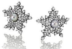 """Paire boucles d'oreille """" Etoiles de Mer"""" Christie's 2014; vendue US$ 217, 480"""
