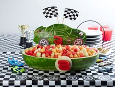 instead of cake idea - too bad watermelon is out of season for my kids bdays!