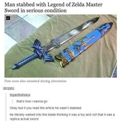 I read the title and thought that the blade was is serious condition, I honestly didn't even think about the man.