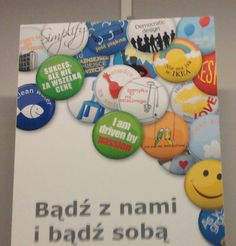 """""""Be with us and be yourself"""" poster at #IKEA in #Kraków #2011 with #gay #rainbow """"There's no place like IKEA"""""""