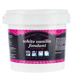 Designing professionally decorated cookies, cupcakes, and cakes is easy with White Vanilla Fondant! This ready-to-use fondant will help you create bakery-quality designs for holidays, birthdays, weddings, showers, graduations, and more!    	It's easy to use and offers a gorgeous and elegant appearance with the same rich flavor of homemade fondant. Gluten free, dairy free, and nut free, just roll it out and decorate!    	     	Details:    	  		Color: White  	  		Flavor: Vanilla  	  		Net…