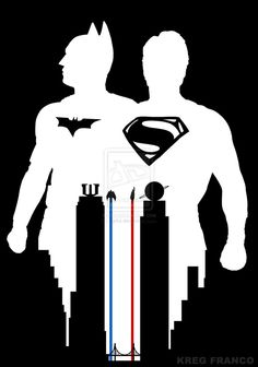 Superman vs Batman Fan Poster or World's Finest by egrka