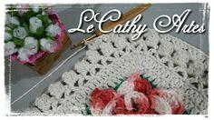 TAPETE JORDANA EM CROCHÊ COM PASSO A PASSO  www.lecathyartes.blogspot.com