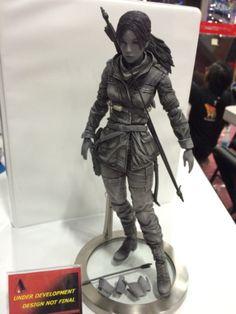 Prototype of the Play Arts KAI Rise of the Tomb Raider figure.  Read more - http://archaeologyoftombraider.com/2015/07/10/rise-of-the-tomb-raider-art-book-and-play-arts-kai-figure-announced/