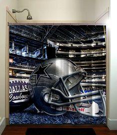 Dallas Cowboys Football NFL Shower Curtain Bathroom Home Decor