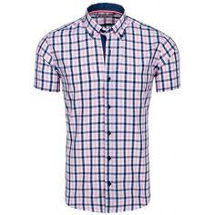 Štýlová károvaná pánska košeľa za skvelú cenu - fashionday.eu Button Down Shirt, Men Casual, Mens Tops, Shirts, Fashion, Self, Moda, Dress Shirt, Fashion Styles
