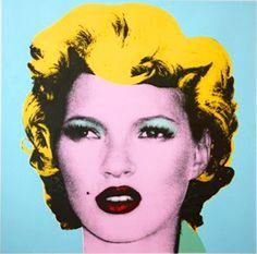 Gorgeous: Banksy's portrait of Kate #banksy #streetart