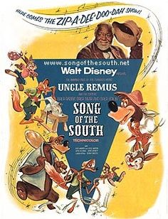 Song of the South. I love Uncle Remus/James Baskett is the grandfather everybody needs. Walt Disney, Disney Love, Disney Magic, Old Movies, Vintage Movies, Great Movies, Disney Movie Posters, Disney Films, Hanna Barbera