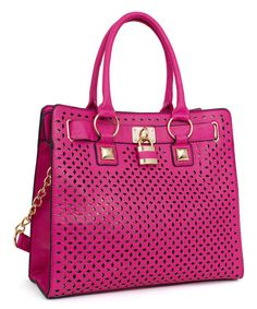 Another great find on #zulily! Fuchsia Laser-Cut Tote #zulilyfinds