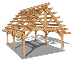 18x24 Foot Timber Frame Pavilion Plan - Timber Frame HQ http://timberframehq.com/shop/18x24-foot-timber-frame-pavilion-plan/?utm_content=buffer83c7b&utm_medium=social&utm_source=pinterest.com&utm_campaign=buffer