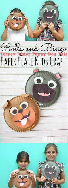 Join us all Summer long with Disney Junior as we go an adventures with Puppy Dog Pals! Create this fun paper plate craft inspired by Rolly and Bingo themselves! Your kids will have a blast playing pretend all summer long! ad Disney Junior FRiYAY - abccreativelearning.com