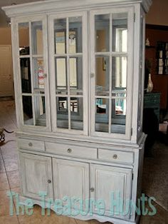 I had been on a hutch hunt  I LOVE hutches  I wish my kitchen were big  enough to have an awesome hutch with to hold awesome knock kna retro hutch renovation  paint and wallpapered interior    DIY for  . Kitchen Hutches. Home Design Ideas