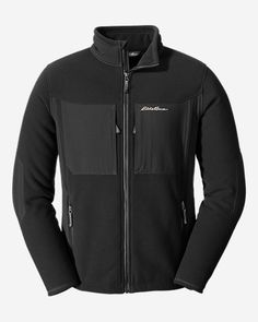 For whatever spring activities you have planned, performance fleece is warm, breathable and sweat-wicking. Cheap Online Shopping, Outdoor Outfit, Eddie Bauer, Hoodies, Sweatshirts, Black Men, Nike Jacket, Sportswear, Man Shop