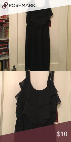 Faded Glory black ruffle dress size 1X New with tags! Faded Glory Dresses Mini