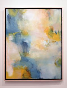 """meanderings of a longing"" original abstract oil painting by Sharon Kingston inspired by Rainer Rilke's poem ""memory is not enough"". 24 x 30 inches on stretched canvas.  Read more at www.sharonkingston.blogspot.com"