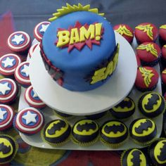 Superhero Birthday Cake that my sister made!