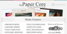 The PaperCore - Elegant Wordpress Theme . The has features such as High Resolution: No, Widget Ready: Yes, Compatible Browsers: IE6, IE7, IE8, IE9, Firefox, Safari, Opera, Chrome, Software Version: WordPress 4.4, WordPress 4.3.1, WordPress 4.3, WordPress 4.2, WordPress 4.1, WordPress 4.0, Columns: 2