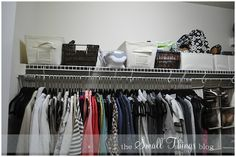 IHeart Organizing: Reader Space: Kate's Organized Clothing Closet!