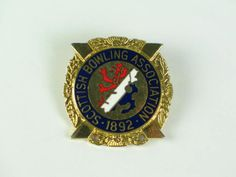 Scottish Bowling Association Enamel Badge (120412-494-29 / 11-11575)