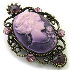 cameo pin--gorgeous..love the shading of the backround!