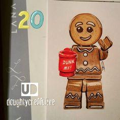 Gingerbread Man (Drawing by DoughtyCreARTive @Instagram) #Shrek