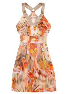 Orchid Silk Strap Dress by Matthew Williamson: Perfect for a hot weekend in Palm Springs.