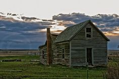 ... old rancher whose lines and creases in his face are etched with stories and history, so too are the old farm houses that dot North Dakota's landscape.