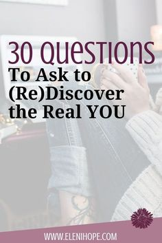 30 Questions to Ask to (RE)Discover the Real You . Very good questions for self help. Coaching Questions, Questions To Ask, This Or That Questions, Self Development, Personal Development, Development Quotes, Leadership Development, Life Coaching Tools, Coaching Quotes