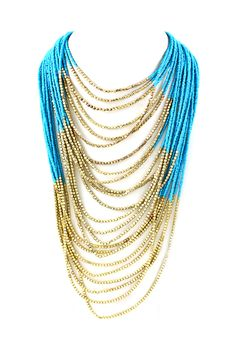 Raquel Necklace in Greek Blue
