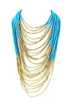 Raquel Necklace in Greek Blue
