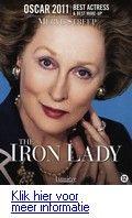 The iron lady. DVD. Levensverhaal van de eerste vrouwelijke Britse premier Margaret Thatcher (1925-2013) die in de jaren zevetig en tachtig van de 20e eeuw strijd voerde om de macht, en tegen de vakbonden en de Argentijnen op de Falklandeilanden. Reserveer: http://www.theek5.nl/iguana/?sUrl=search#RecordId=2.270541