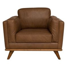 DAHLIA leather armchair