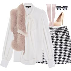 Scream Queens: The Chanels Costume by emmig02 on Polyvore featuring polyvore fashion style Barbara Bui Elie Saab St. John Kate Spade Charles by Charles David Thierry Lasry