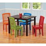 Cafekid Game Table and Chair Set- I like this for the play room!! Love the colorful chairs!!