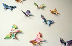 10 Large Swallowtail 3D #Origami #Butterflies by PullingPetals, $8.00