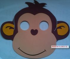 Caretas de mono infantil. Más en www.martinfloressl.es Complementos para fiesta y carnaval en #sevilla Felt Crafts, Paper Crafts, Animal Birthday, Kindergarten Teachers, Monkey, Mickey Mouse, Pikachu, Disney Characters, Fictional Characters