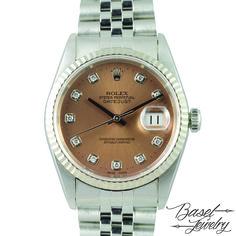 二手勞力士蠔式恆動鑽石型不銹鋼錶盤系列 PRE-OWNED ROLEX 16234G OYSTER PERPUTIAL DATEJUST DIAMOND PAVE DIAL-EW04164 HKD 40,800.00 USD 5,271.00
