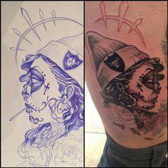 #raiders chica ongoing! #bodymods #instagood #lifesaphoto #laser #onedirection #graffitispotter #picoftheday #igtattoo #piercing #scarification #tagstagram #tattooremoval #tattoo #tattoocollective #artnerd #inklife #scarwars #inkaddict #kinkyink #london #mrwolf #fullmoon #wolfpack http://www.facebook.com/mrwolfpiercing