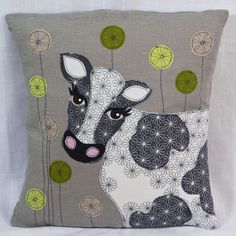 Bring the outside in this #Spring. Plant-inspired patterns are really popular right now and we think this gorgeous cow cushion will add something special and a touch of colour to your living room.