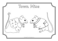 Town Mouse Country Mouse coloring sheets