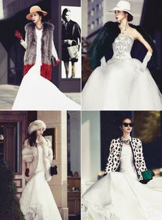 Swooning over these seriously stylish, fashion-forward winter bridal looks!
