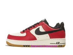 online store 3267e b10f8 NikeLab x VLone Air Force 1 Low Chaussures Nike Sportswear Pas Cher Pour  Homme Blanc rouge