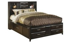Queen Storage Bed from Ashley- lots of storage