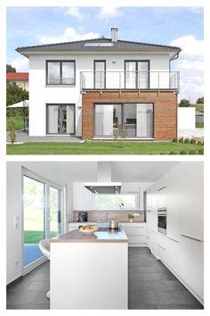Stadtvilla mit französischen Balkonen - Keitel Haus - New Ideas Home Upgrades, Style At Home, Keitel Haus, Classic House Design, Decoration, Sweet Home, Garage Doors, Mansions, Architecture