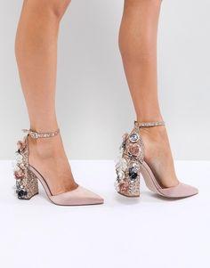 ASOS | ASOS DESIGN Passionate Embellished High Heels