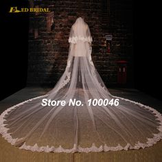 75.00$  Buy here - http://viurc.justgood.pw/vig/item.php?t=q3d5uw14267 - Latest 5 meter Lace Scalloped Two Layers Wedding Vail 75.00$