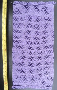 dollhouse miniature silk crochet lilac afghan IGMA artisan | eBay
