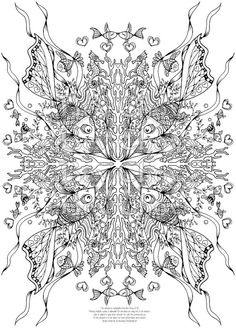 Adult Coloring Page - Fishies